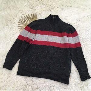 Columbia Mens Wool Blend 1/2 Zip Pullover Sweater